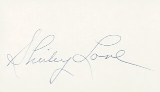 SHIRLEY LOVE - AUTOGRAPH