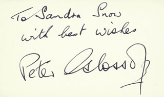 PETER GLOSSOP - AUTOGRAPH NOTE SIGNED