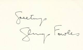 GLENYS FOWLES - AUTOGRAPH