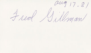 FRED GILLMAN - AUTOGRAPH 08/17/1981