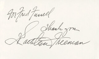 KATHLEEN FREEMAN - AUTOGRAPH NOTE SIGNED