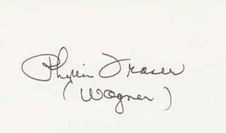 PHYLLIS FRASER - AUTOGRAPH