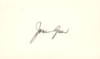 JANE GREER - AUTOGRAPH LETTER DOUBLE SIGNED