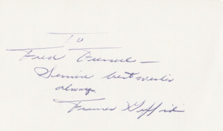 FRANCES GIFFORD - AUTOGRAPH NOTE SIGNED
