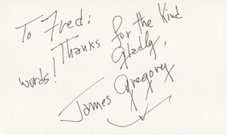 JAMES GREGORY - AUTOGRAPH NOTE SIGNED