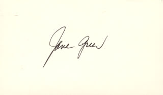 JANE GREER - AUTOGRAPH