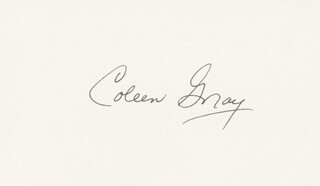 COLEEN GRAY - AUTOGRAPH