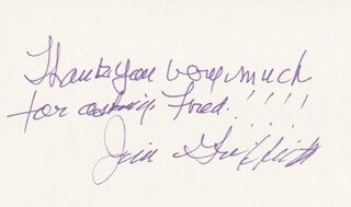 JAMES GRIFFITH - AUTOGRAPH NOTE SIGNED