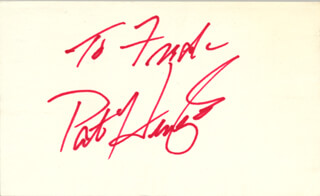 PAT HINGLE - INSCRIBED CARD SIGNED
