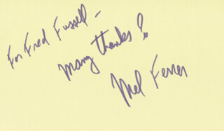 MEL FERRER - INSCRIBED SIGNATURE