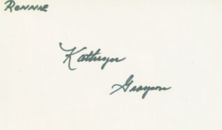 KATHRYN GRAYSON - INSCRIBED SIGNATURE
