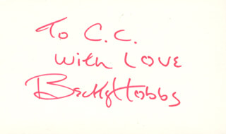 BECKY HOBBS - AUTOGRAPH NOTE SIGNED