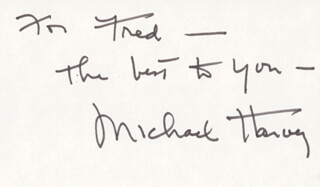 MICHAEL HARVEY - AUTOGRAPH NOTE SIGNED