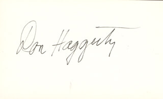 DON HAGGERTY - AUTOGRAPH