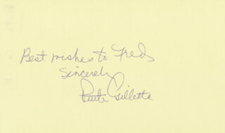 RUTH GILLETTE - AUTOGRAPH NOTE SIGNED