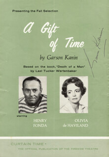 GARSON KANIN - PROGRAM SIGNED