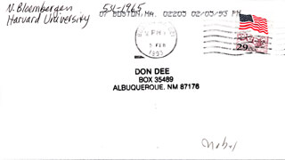 Autographs: NICOLAAS BLOEMBERGEN - ENVELOPE SIGNED