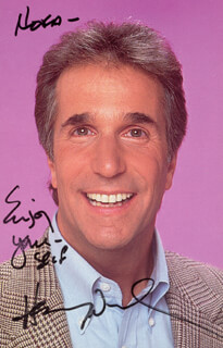 HENRY THE FONZ WINKLER - AUTOGRAPHED SIGNED PHOTOGRAPH