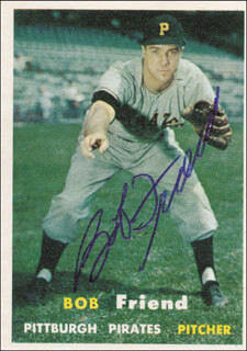 BOB WARRIOR FRIEND - TRADING/SPORTS CARD SIGNED
