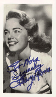 TERRY MOORE - AUTOGRAPHED SIGNED PHOTOGRAPH