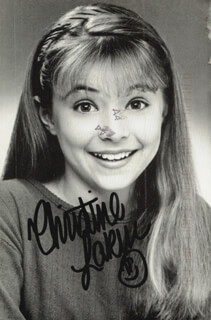 CHRISTINE LAKIN - PICTURE POST CARD SIGNED