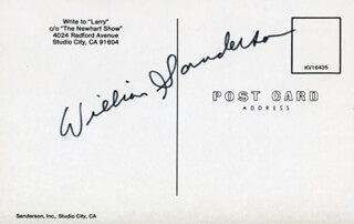 WILLIAM SANDERSON - PICTURE POST CARD SIGNED