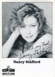 NANCY STAFFORD - AUTOGRAPHED SIGNED PHOTOGRAPH