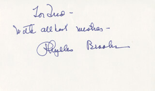PHYLLIS BROOKS - AUTOGRAPH NOTE SIGNED