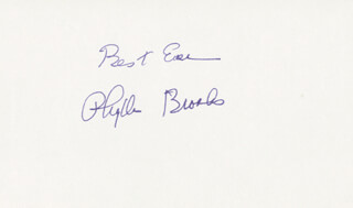 PHYLLIS BROOKS - AUTOGRAPH SENTIMENT SIGNED