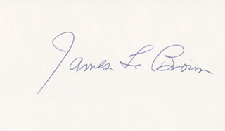 JAMES L. RIP BROWN - AUTOGRAPH