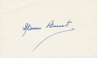 SPENCER GORDON BENNETT - AUTOGRAPH