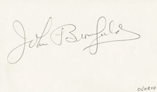 JOHN BROMFIELD - AUTOGRAPH NOTE DOUBLE SIGNED