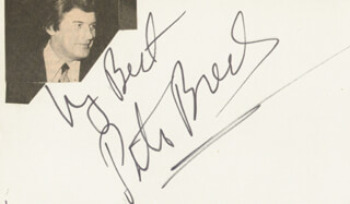 PETER BRECK - AUTOGRAPH SENTIMENT SIGNED