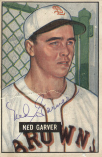 NED GARVER - TRADING/SPORTS CARD SIGNED