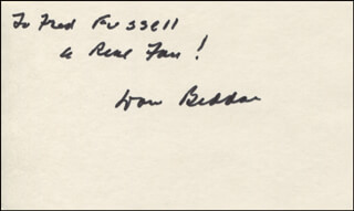 DON BEDDOE - AUTOGRAPH NOTE SIGNED