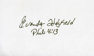 EVANDER HOLYFIELD - AUTOGRAPH QUOTATION SIGNED