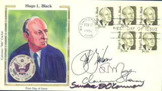 ASSOCIATE JUSTICE CLARENCE THOMAS - FIRST DAY COVER SIGNED CO-SIGNED BY: ASSOCIATE JUSTICE SANDRA DAY O'CONNOR, JOHN GRISHAM