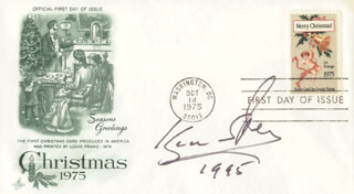 ISAAC STERN - FIRST DAY COVER SIGNED 1995