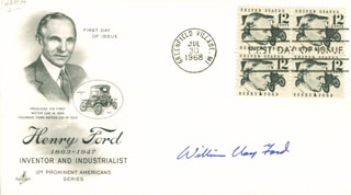 WILLIAM CLAY FORD SR. - FIRST DAY COVER SIGNED
