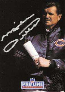 Autographs: MIKE DITKA - TRADING/SPORTS CARD SIGNED