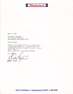 WALTER SWEETNESS PAYTON - TYPED LETTER SIGNED 05/04/1984