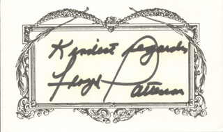 FLOYD PATTERSON - AUTOGRAPH SENTIMENT SIGNED