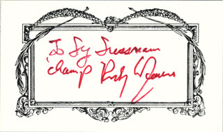 ROCKY GRAZIANO - INSCRIBED SIGNATURE