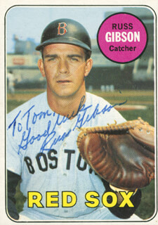 RUSS GIBSON - INSCRIBED TRADING/SPORTS CARD SIGNED