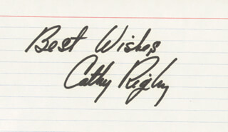 CATHY RIGBY - AUTOGRAPH SENTIMENT SIGNED
