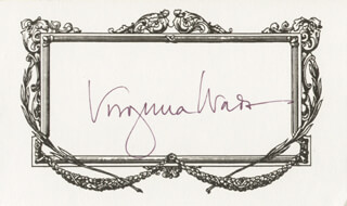 VIRGINIA WADE - PRINTED CARD SIGNED IN INK
