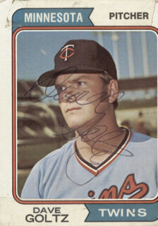 DAVE GOLTZ - TRADING/SPORTS CARD SIGNED