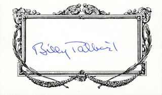 BILL TALBERT - PRINTED CARD SIGNED IN INK