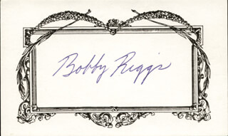 BOBBY RIGGS - AUTOGRAPH