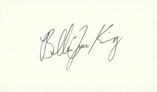 BILLIE JEAN KING - AUTOGRAPH